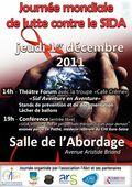 Affiche Journée Mondiale contre le SIDA 1er décembre à Evreux
