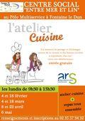 Flyer atelier cuisine Fontaine Le Dun
