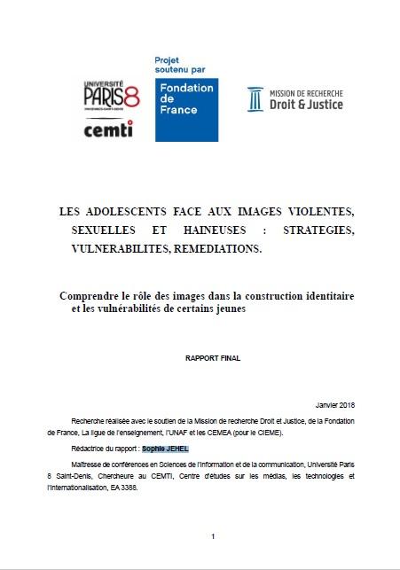 Les adolescents face aux images violentes, sexuelles et haineuses    stratégies, vulnérabilités, remédiations. Comprendre le rôle des images  dans la ... 7b5b1d702c11